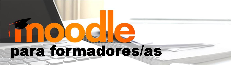 portada curso moodle. logo de la plataforma moodle sobre un ordenador portatil en blanco y negro